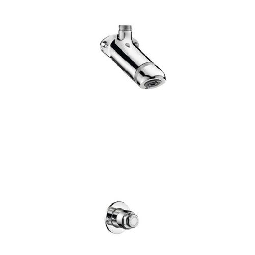 Delabie 714002 SPORTING Push Time-Flow Recessed Shower Kit